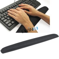 Wholesale Relieve Pain Black Gel Wrist Rest Support Non slip Pad for PC Keyboard Raised Platform Hands