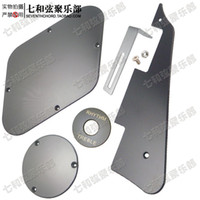 Wholesale A Set Black LP Guitar Pickguard Cavity Cover Switch Cover Pickup Selector Plate Scratchplate Pickguard Support Bracket