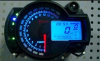 Wholesale New Backlight LCD Digital Motorcycle Speedometer Odometer Motor Bike Tachometer Koso Similar