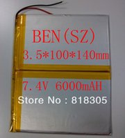 Wholesale 7 V mAHLi ion Polymer lithiumion battery for GPS Aoson M19 M19 G Tablet PC mm