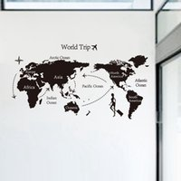 Wholesale World Map World Trip Wall Stickers Home Decor Removable d Wallpaper Rolls Wall Decals Art Party Decoration For Kids Liveroom DHL Factory