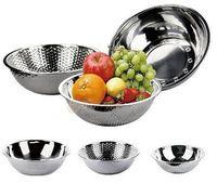 Wholesale Factory Price Fruit Basket Set Stainless Steel Vegetable Rice Colander Fuit Colander