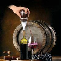 Wholesale Hot Sale Quality Wine Pourer Electric Wine Decanter Pump Wooden Barrel Design Red Wine decanter Cider Appliance Wine Aerator