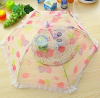 Wholesale upscale folding health food stamp cover antifly cover food cover lace cover