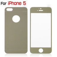 Wholesale for iphone S C mm D beveled edges electroplate gold color Screen Protector Tempered Glass Shatter proof Film Guard Shield