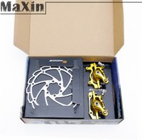 bicycle brake caliper red - Cycling MTB Road Bike Bicycle Steel Mechanical Disc Brake Expert Set Road Caliper Front Rear mm Rotors Yellow Red Colors