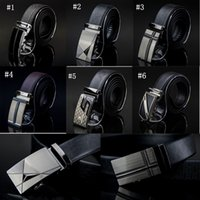 mens leather belts - Fashion Genuine leather belts for men Business classic mens Automatic Buckle double faced cowhide jeans straps belt