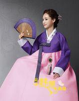 Wholesale Korean Hanbok Custom Made Woman Korean National Dress Korean Traditional Hanbok Bride Wedding Party Dress