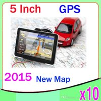 Wholesale 5 Inch Auto Car GPS Navigation Sat Nav GB New Map WinCE FM Mp3 Mp4 ZY DH