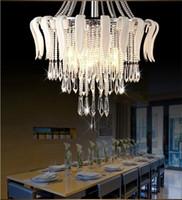 crystal chandelier light - LED lighting design crystal flower modern luxury elegant crystal chandelier