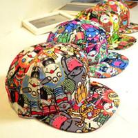 Wholesale 30pcs Zombie vampire patterned baseball cap hip hop hat lady Harajuku fluorescence Korean tidal flat along brimmed hat