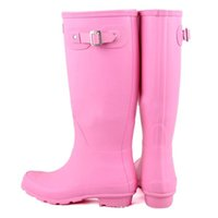 Wholesale Top Quality Rainboots Wellies Boots women Winter Warm High Boots Waterproof Boots Ms glossy Welly Boots uk