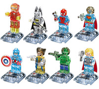 Wholesale 80pcs Crystal Super Hero Minifigure Marvel Bricks set Avengers Batman Action Figure Building Blocks Sets Model Toys For Children
