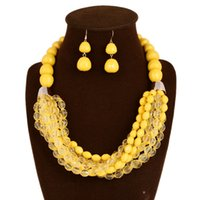 africa jewellery - multi layered necklace earring sets necklace jewelry sets new design fashion women africa wedding jewellery set