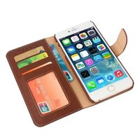 Wholesale For iphone plus PU Leather Photo Frame Case With Buckle Business Card Holder For Iphone6