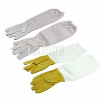 bathroom vent - 1pair Protective Vented Long Sleeves Goatskin Bee Keeping Tool Beekeeping Gloves