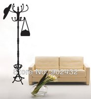 home furniture decoration - Fake Vintage Coat Rack Wall Decals Stickers Furniture Living Room Decor Mural Sticker JiaMing Home Decoration