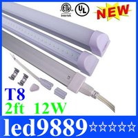 Wholesale Super Bright W ft m T8 Integration Led Tubes Light Fluorescent Lamp AC V Warm Natural Cool White SMD lm SMD