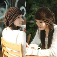 Wholesale Cheap New Korean Female Cannabis Warm Winter Wool Hat Knitted Hat Fashion Trend Hedging Caps M1713