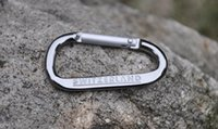 aluminium karabiner - Backpack safety buckle buckle hanging hook Aluminium Hot mm Silver Carabiner Camping Snap Clip Hiking Hook Sports Karabiner Keychains K101