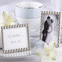 small picture frame - Small Wholesales Silver Pearls Mini Photo Frame Wedding Picture Frame Bridal Shower Favors For Guest