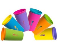 Wholesale HOT Multi style color options Wow Cup good quality for Kids with Freshness Lid Spill Free Drinking Cup DHL