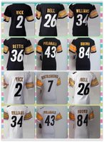 Wholesale New Product Pittsburgh Women American Football shirt VICK Wallace Polamalu Brown WILLIAMS BETTIS Jerseys White Black Jerseys