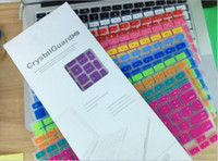 Wholesale Laptop Soft Silicone Colorful KeyBoard Protector Cover Skin For MacBook Pro Air Retina Waterproof Dustproof with retail box