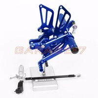 Wholesale Rearsets Foot Rests Rear For HONDA CBR600RR Motorcycle Foot Pegs Blue Aluminum Alloy High Quality CNC