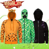 Wholesale MINECRAFT Hoodie Creeper Hoodie Coat Creeper jacket sweatershirts US youth size for kids boys GREAT QUALITY BEST GIFT IN STOCK LJJD1704