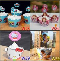 Wholesale 3D Despicable Me Minion Paper Cupcake Wrappers Decorating Boxes Cake Cup With Toppers Picks For Kids Xmas Birthday Party Decorations