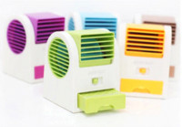 Wholesale 2014 cool Summer usb gadgets Ultra quiet big wind no leaves mini Air conditioning fan students aromatherapy fan