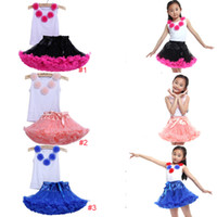 ballet outfits - 2015 Children Girls Ballet Sets Summer Kids Suits Top tShirt Lace Tutu Skirt Toddler Princess Party Outfit Baby Dancewear Clothes ZJ B01