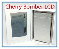 Cheap 2016 Newest cherry bomber v2 with LCD Screen ecigs box Mod series-parallel switching circuit protection Mechanical 510 Connector for RDA RBA
