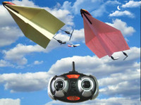 Wholesale HM830 paper airplane remote control toy drive electric glider fixed wing model