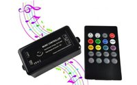 Wholesale Music Controller DC12 V Sound Activated Controllers for SMD RGB LED Strip Light Tape Ribbon with Keys IR Remote Control W