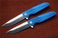 alu sheet - Brian Nadeau Tactical Survival Typhoon Flipper Bearing Knife D2 StainFinished Blade Sky Blue Alu Sheet Handle