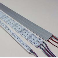Wholesale LED cabinet light aluminum LED rigid light bar jewelry light hard strip SMD LED rigid strip RGB led m