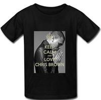 best mens printed shirts - Good Quality Mens T shirts KEEP CALM AND LOVE CHRIS BROwn Cotton Summer Spring Best Casual Street Man T Shirt M XXXL