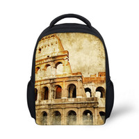 architecture italy - Vintage Europe Architecture Printing Toddler Backpacks Italy Roman Colosseum School Bags For Children Kids Boy Mochilas Infantis
