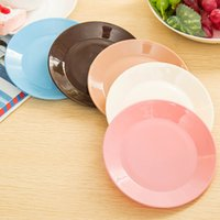 plastic plates - pieces Candy Color Tableware Small Dishes Snacks Flat Plates Food Grade Plastic Dishes For Restaurant Plastic Plates