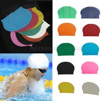 Wholesale Durable Flexible Sporty Latex Swimming Swim Cap Bathing Hat Unisex Colors