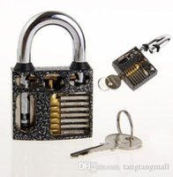 Wholesale New Perspective Cutaway Inside View Practice Padlock Lock Locksmith Training Skill Craft Learning Tool With Keys A3