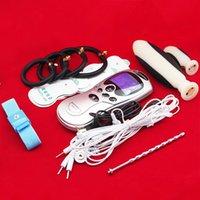 Wholesale Adult Electric Shock BDSM Kit Penis Extender Cock Ring Urethral Plug Clitoris Massage Stimulate Patch Vagina Anal Plug NEW SEX PRODUCT