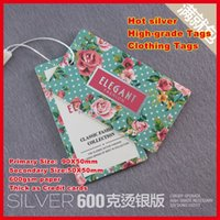 tags for clothing - 200PCS Supper Hot sliver High Grade tags hang tags gsm paper Thick as Credit cards clothing tag suitable for writing words