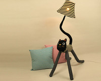 Wholesale Clown cat cloth floor lamps a bag standing lamp creative cute children living room bedroom bedside lamp reading lamp nightlights