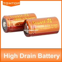 Wholesale 3 V IMR Rechargeable High Drain Battery mAh for Electronic Smoke Flashlight TrustFire NEW ARRIVAL
