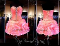 bare cups - 2015 New Party Cocktail Dresses Short Prom Homecoming Graduation Gown With Cup Cake Sexy Bare Back Organza Ruffles Cheap