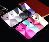 cd covers - Aluminum Metal CD Pattern Back Case Cover for Apple iPhone Plus G S G S side aluminium back hard case with Logo case