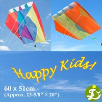 Wholesale Kids Children Mini Small Single Line Pocket Parafoil Kite Power Stunt Fly Kites